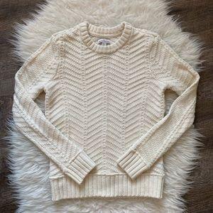 LL Bean Signature Herringbone Fisherman's sweater